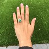 5.34ctw Emerald and Old Mine Cut Diamond Cluster Ring 9