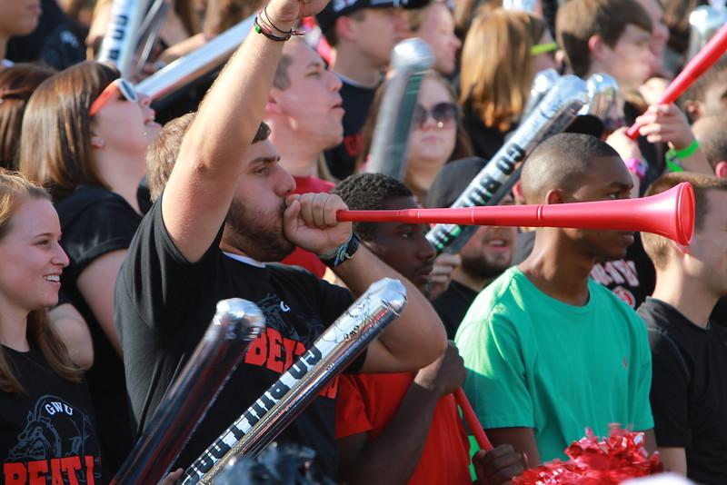 Gardner-Webb Runnin Bulldogs take on Liberty University on family weekend; October 2011.