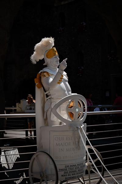 Roman Centurian Living Statue