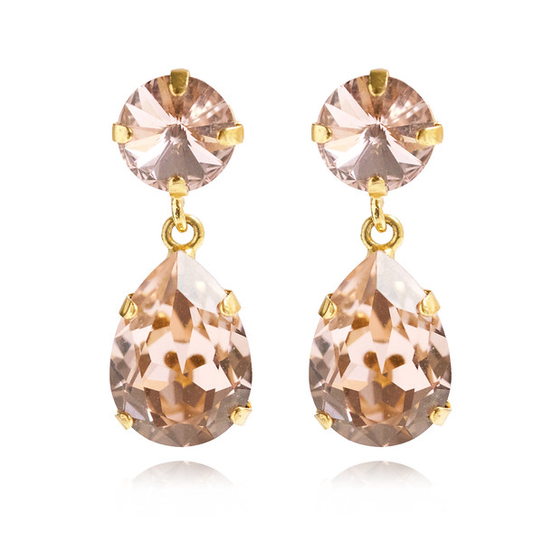 Classic Drop Earrings / Vintage Rose Gold
