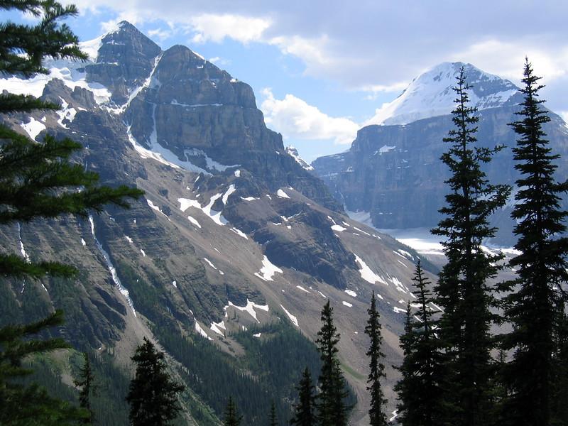 Mountains around Lake Louise