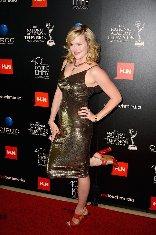 . Actress Nicholle Tom poses in the press room during The 40th Annual Daytime Emmy Awards at The Beverly Hilton Hotel on June 16, 2013 in Beverly Hills, California.  (Photo by Mark Davis/Getty Images)