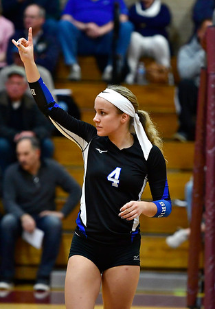 11/14/2018 Mike Orazzi   Staff Bristol Eastern's Olivia Beaudoin (4) during the Class L Semifinal State Girls Volleyball Tournament with Woodstock Academy held at Windsor High School Wednesday night.