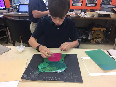4th Grade - Animal Collage and Painting