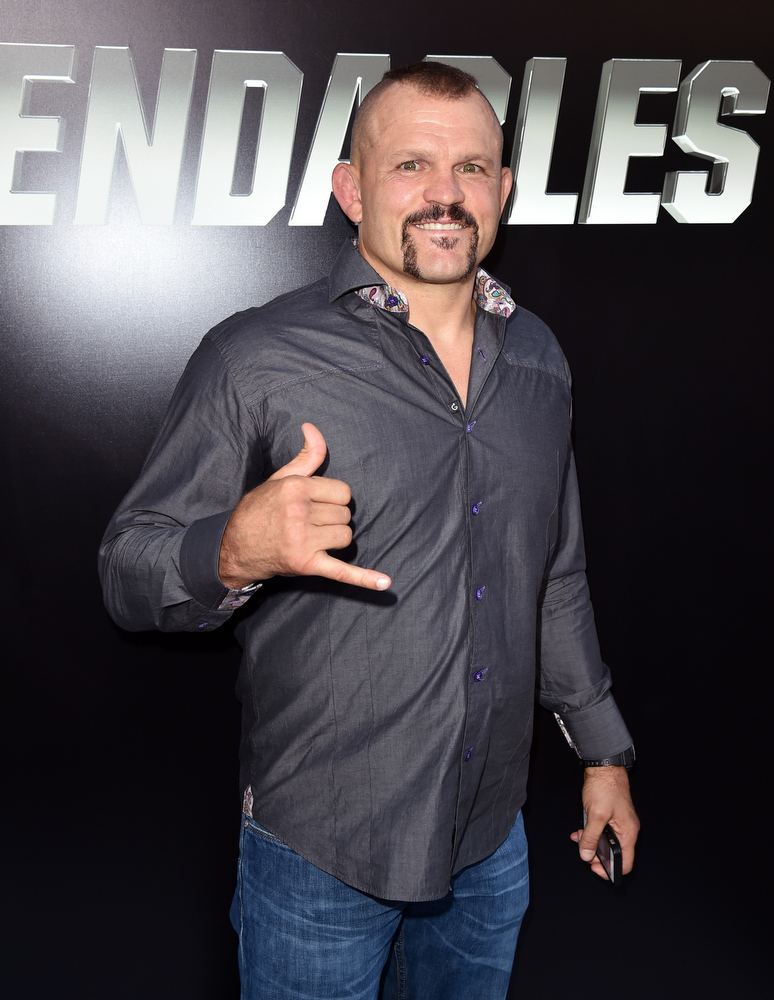 """. Actor Chuck Liddell attends the premiere of Lionsgate Films\' \""""The Expendables 3\"""" at TCL Chinese Theatre on August 11, 2014 in Hollywood, California.  (Photo by Kevin Winter/Getty Images)"""