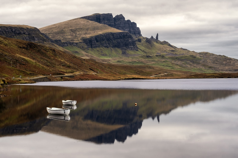 Two boats for the Old Man of Storr