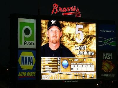 Atlanta Braves vs. Milwaukee Brewers, July 9, 2005