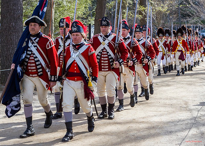 Concord MA Patriots Day Old North Bridge Reenactment 2014