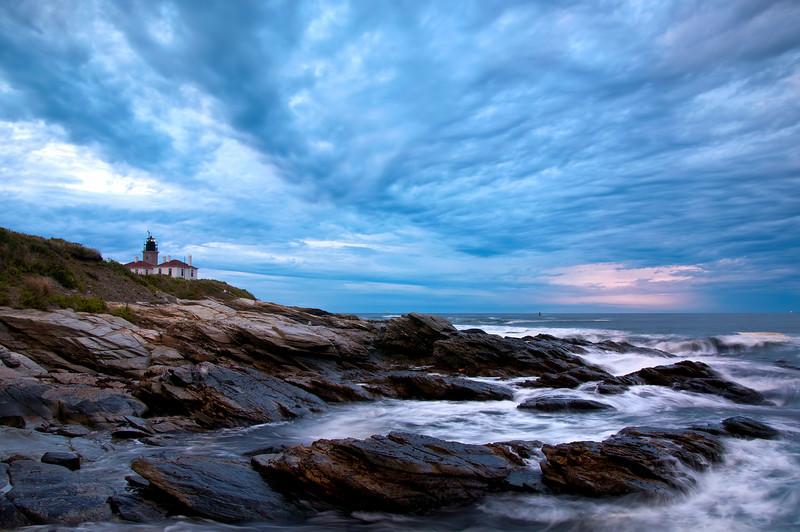 Beavertail Light House Before Sunrise.
