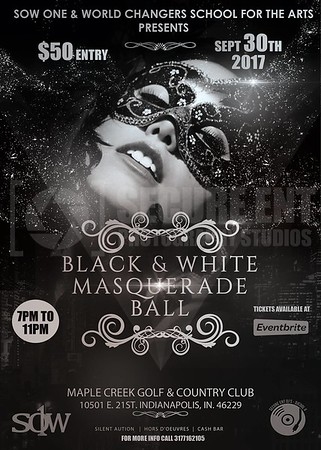 BLACK & WHITE MASQUERADE PARTY 9-30-17