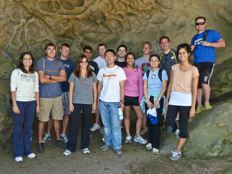 Intern Hike, everyone, group picture