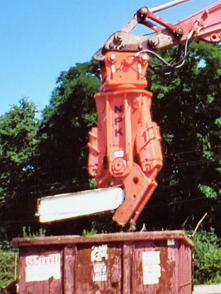 NPK M38K demolition shear on Link-Belt excavator-scrap metal recycling (4).jpg