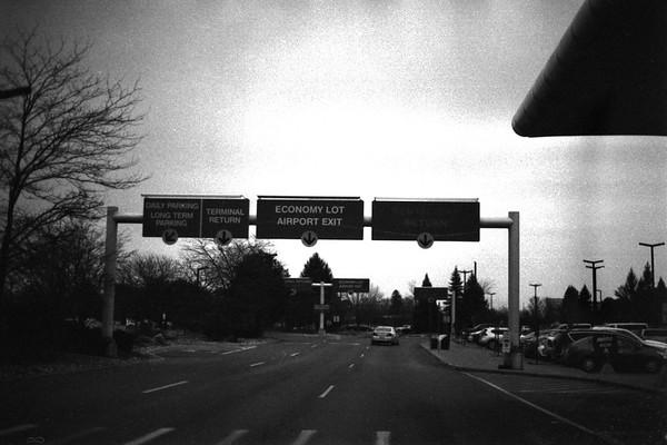 Flint Winter Cityscape 35mm Film