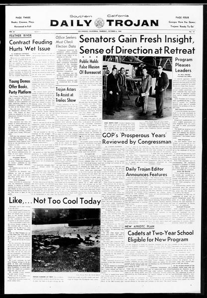 Daily Trojan, Vol. 52, No. 14, October 06, 1960