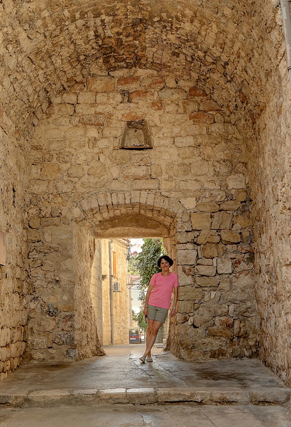 Walking the Old Town — at Hvar Island
