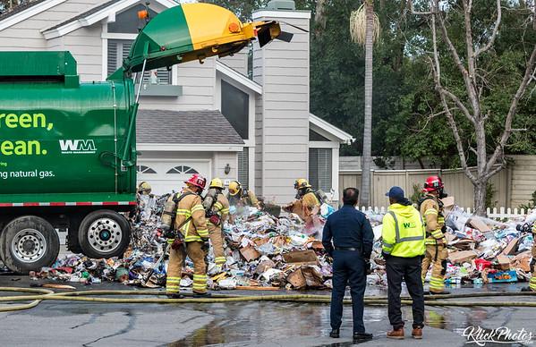 Irvine Trash Truck Fire - February 2nd, 2017