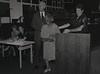 Mayor Hudnut at IPD Quarterly Awards, September 15, 1983, Img. 6, with Joseph McAtee