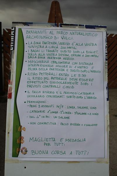 Maratonina archeologica di Vulci Dario Giannetti