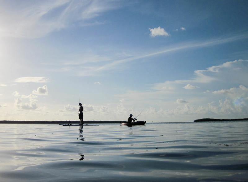 paddle fishing