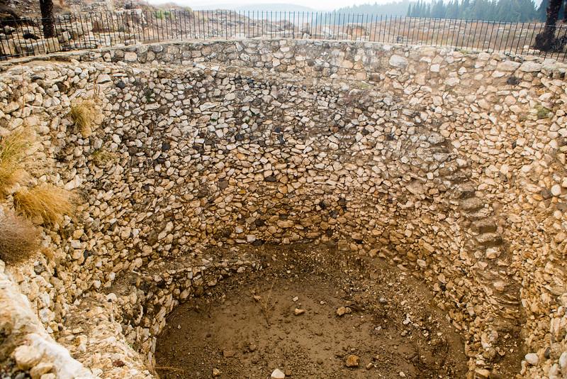 Sunken Grain Silo in Megiddo