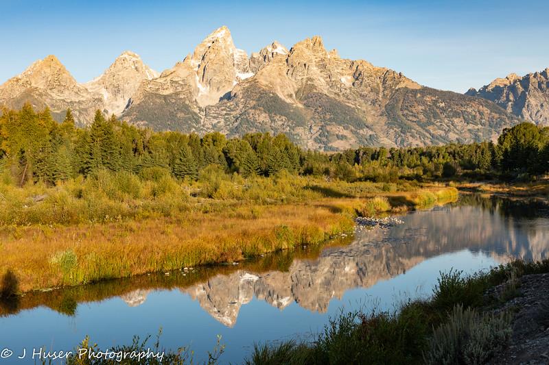 Teton mountain reflections