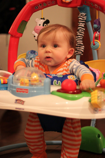 First time in the jumperoo and not sure what to think.