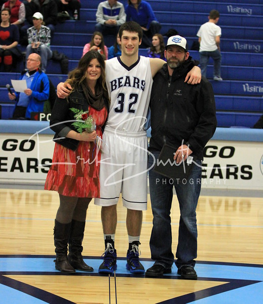 Central Valley Bears Senior Night Basketball 2014