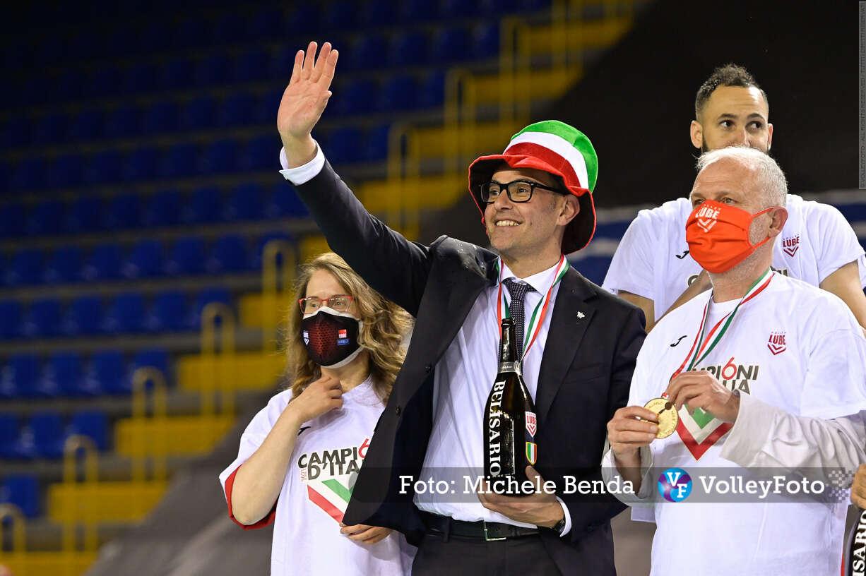 Gianlorenzo BLENGINI, Cucine Lube CIVITANOVA, Campioni d'Italia 2020-2021