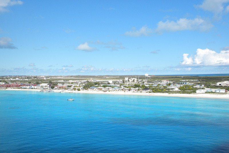 View from the Emerald Princess of Grand Turk