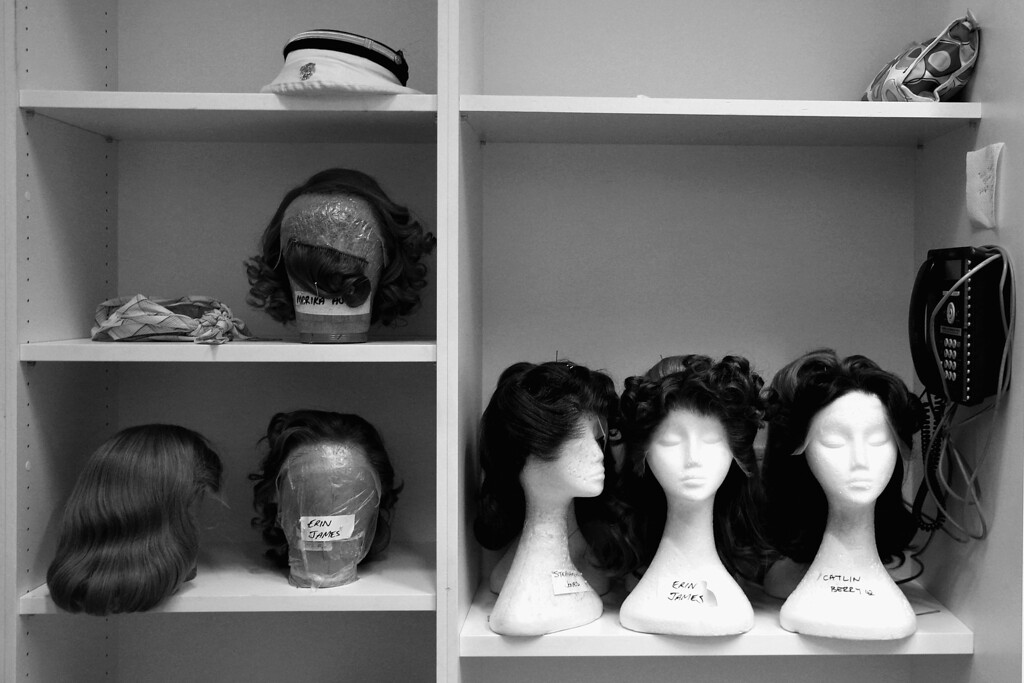 . Wigs are seen backstage of the Dame Joan Sutherland Theatre in the Sydney Opera House on October 17, 2013 in Sydney, Australia.  (Photo by Cameron Spencer/Getty Images)