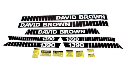 DAVID BROWN 1390 SERIES BONNET DECAL SET