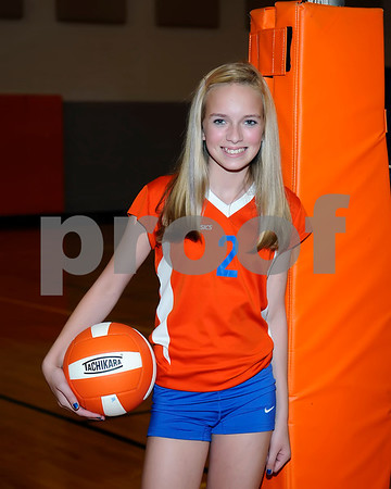 Marshall County 2012 Volleyball Team, August 15, 2012.
