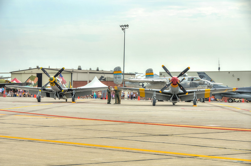 The P-51 Mustangs