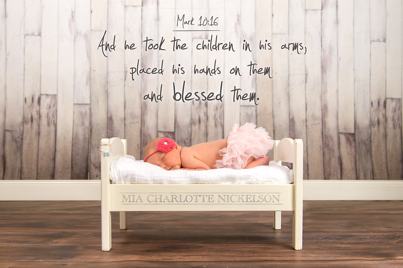 """""""And he took the children in his arms, placed his hands on them and blessed them."""" –Mark 10:16  Welcome to the world, Mia!"""