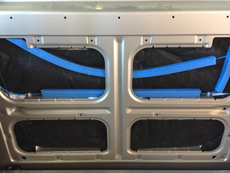 Sliding Door insulation - install