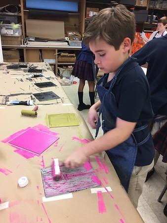 5th Grade - Linoleum Block Printing