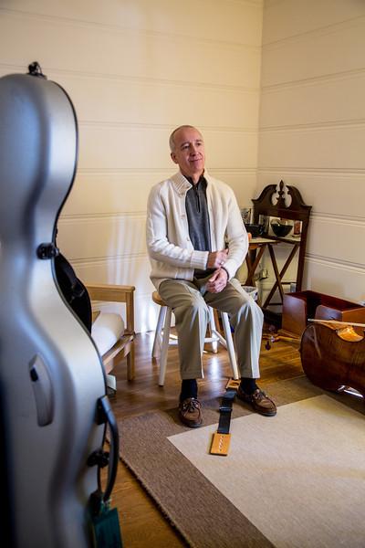 Gabe Weiland cello lesson with Jean Michel Fonteneau  November 10,2012  Berkeley,Ca