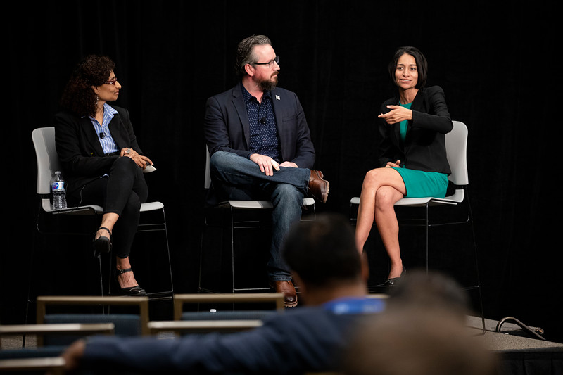 IoT and AI at the Edge	Miku Jha, Founder & CEO, AgShift, Janet George, Fellow, Chief Data Officer, Western Digital	How 5G, AI, and iOT are speeding up real-time decision-making and efficiency in manufacturing, retail and beyond.	John McElligott, CEO, York Exponential