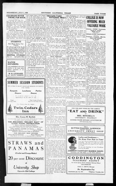 The Southern California Trojan, Vol. 5, No. 3, July 07, 1926