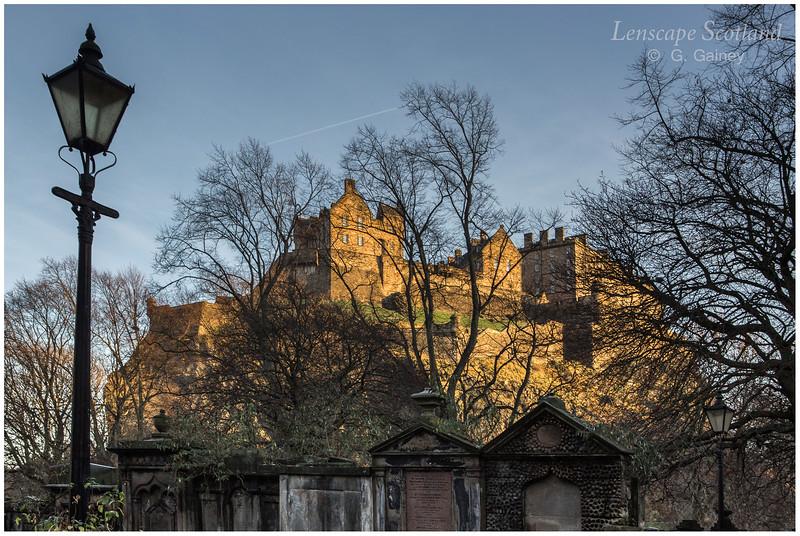 Edinburgh Castle from St. Cuthbert's graveyard 1