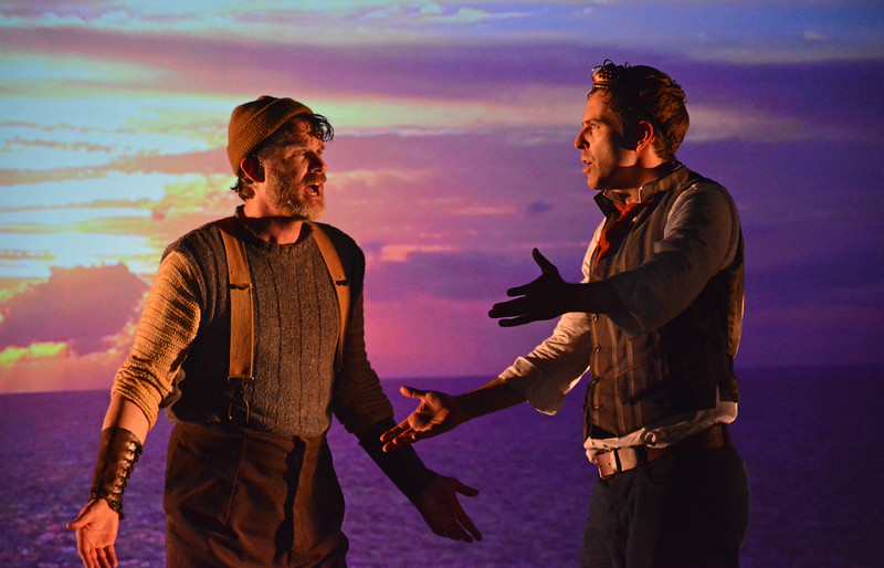 Marcel Jeannin and Brendan McMahon in TWENTY THOUSAND LEAGUES UNDER THE SEA at Asolo Rep. Photo by Gary W.  Sweetman.