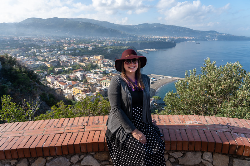 Amanda on the Amalfi Coast in Italy