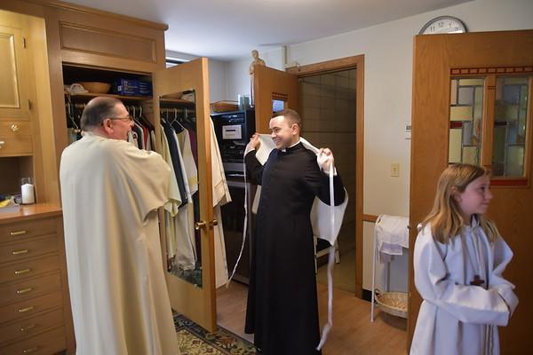 Rev. Mr. Ryan Amazeen First mass as a deacon