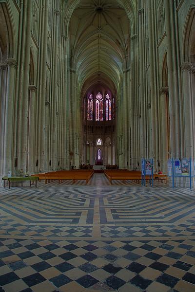 Saint-Quentin Basilica Nave and Choir