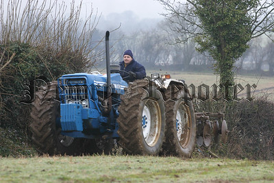 Following the ploughed field the disc came in to action and Michael Mc Parland from Annacloughmullion used his Ford County1124,06W11N77