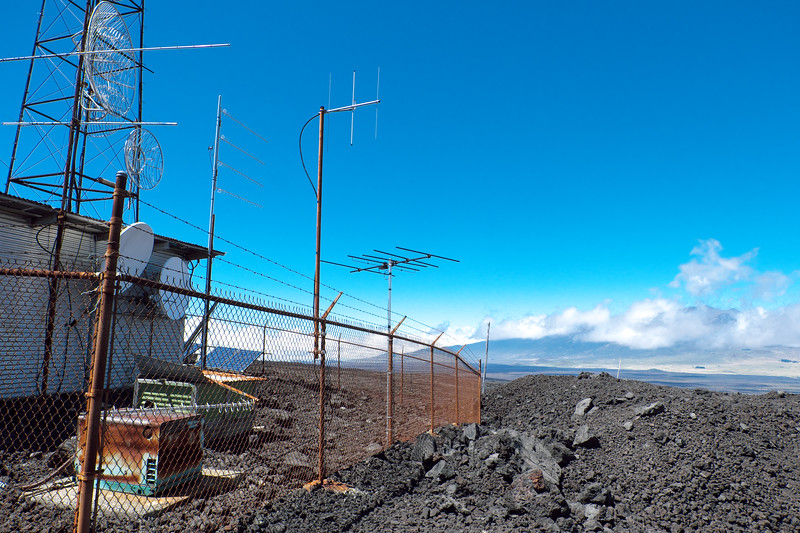 New FM receive antenna, pointed at Kulani Cone, 11 miles east