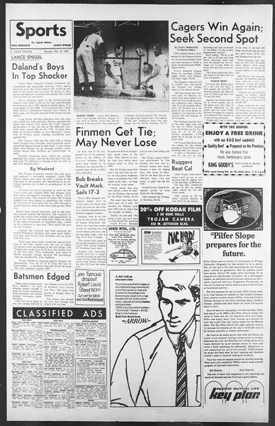 Daily Trojan, Vol. 58, No. 74, February 20, 1967