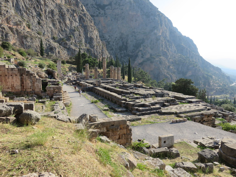 The archaeological site on a mountainside