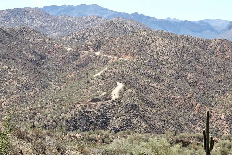 Apache Trail east of Apache Lake (2018)