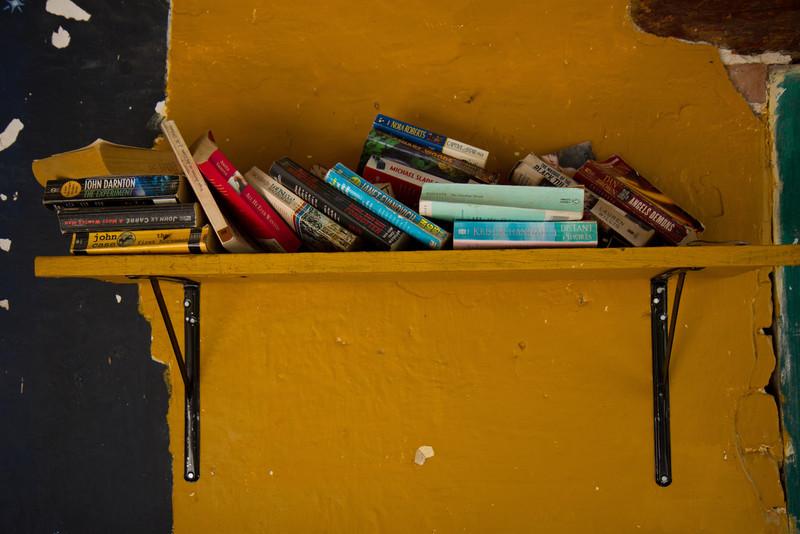 The bookshelf, Yelapa, Mexico, 2011